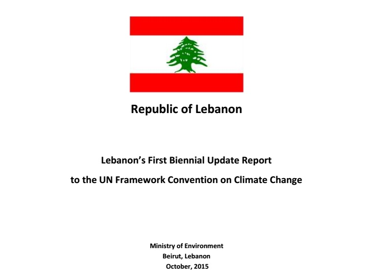 Lebanon's First Biennial Update Report (BUR) on Climate Change