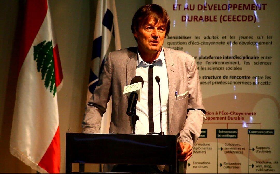 Nicolas Hulot au Liban