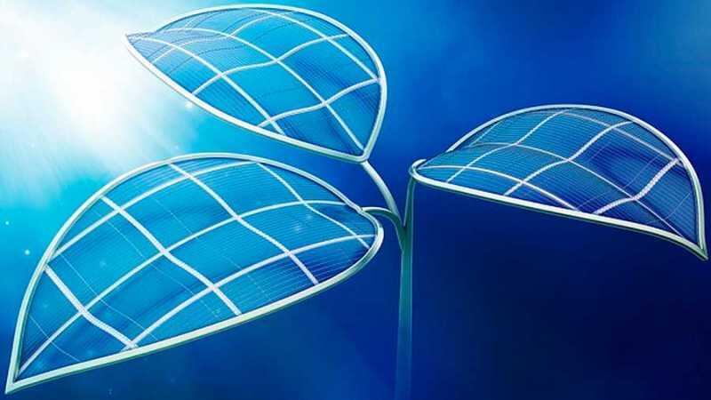 Una hoja biónica convierte la luz solar en combustible líquido
