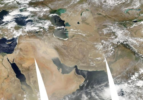 Dust Storm over iran. (Picture Credit: NASA)