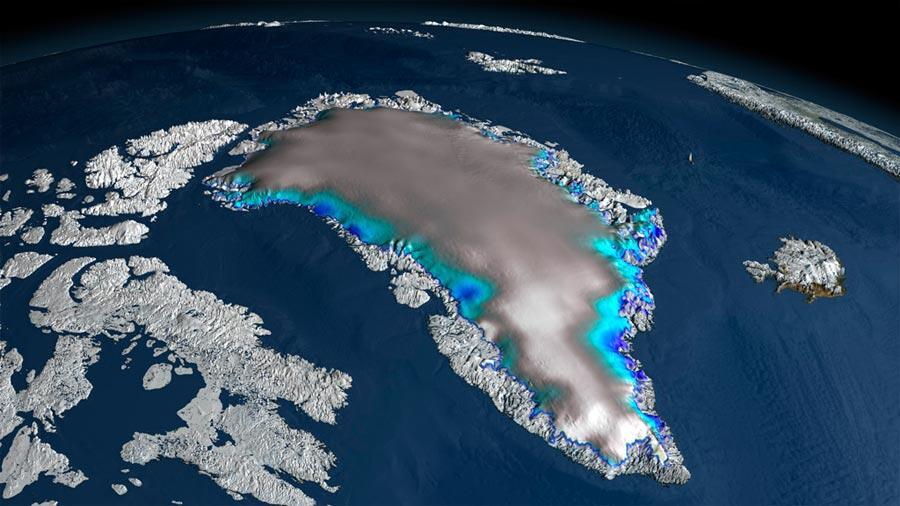 Groenland fond sept pour cent de plus qu'on ne le pensait