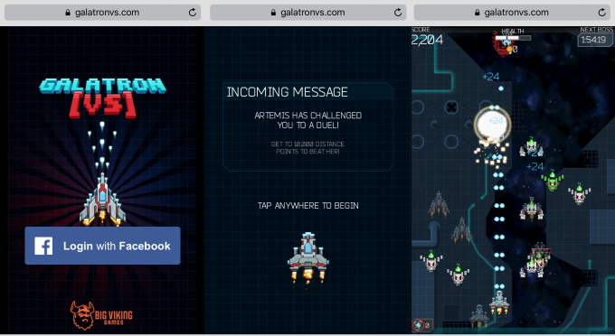 """Facebook Messenger is testing """"Instant Games"""" like this one"""