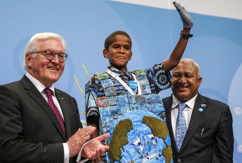 الفتى الفيجي الحاضر الأكبر في مؤتمر المناخ… انتهت لعبة اللوم والإنتظار!