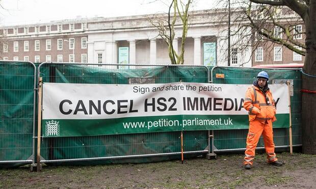 Les manifestants environnementaux sur le site HS2 menacés d'injonction