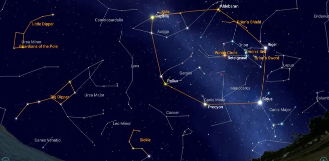 Catch the 'Winter Football' and Other Asterisms with Mobile Astronomy Apps