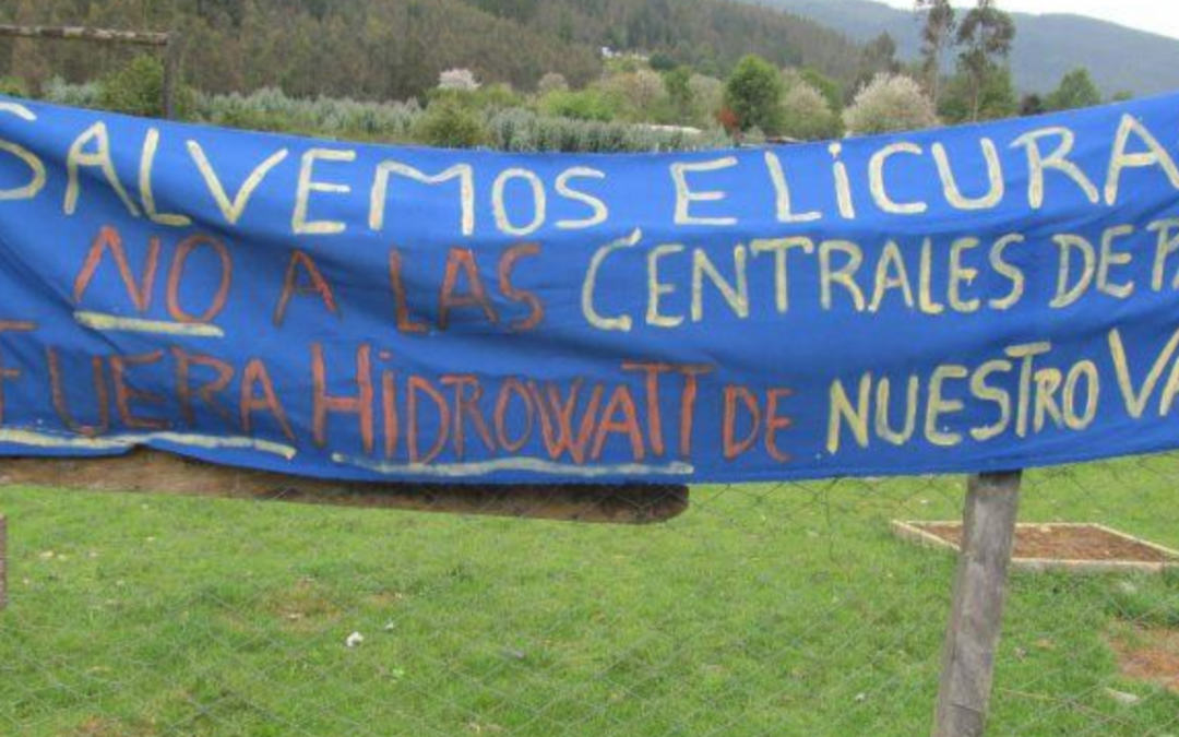 Hydroelectric plants that threaten the rivers of the Elicura Valley