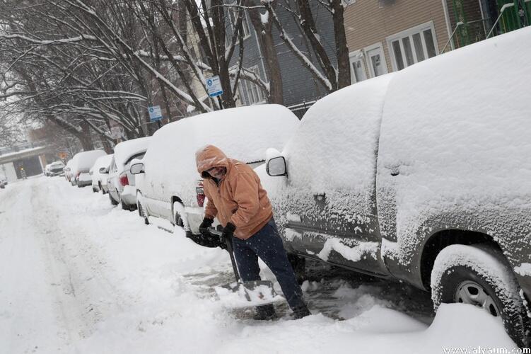 عواصف تتجه شرقا بعد تساقط كثيف للثلوج في الغرب الأوسط الأمريكي