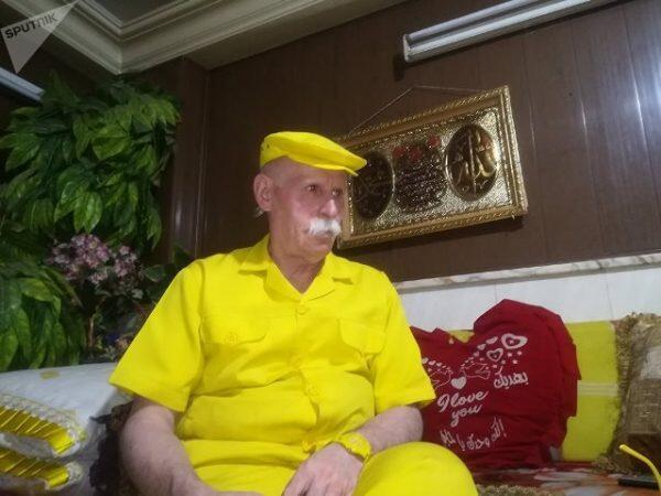 """""""الرجل الأصفر"""" من حلب إلى موسوعة غينيس"""