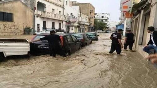 تونس.. أمطار طوفانية تغرق المدن وتوقع ضحايا وخسائر مادية