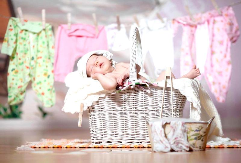 نصائح لغسيل ملابس الأطفال حديثي الولادة