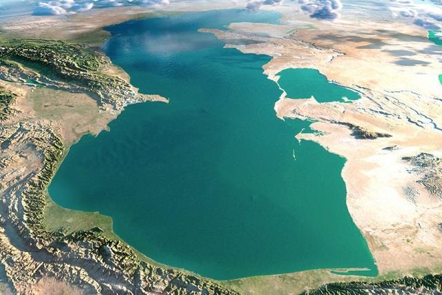 أكبر بحيرة في العالم هي بحيرة قزوين