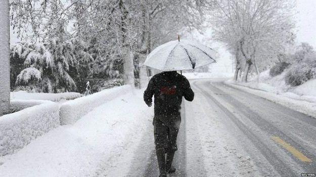 طقس شتوي كانوني…امطار رعدية وتدني مستوى تساقط الثلوج