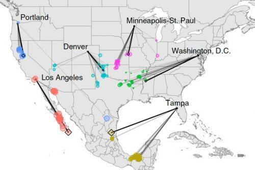 Un mapa interactivo muestra cómo será el clima en Norteamérica dentro de 60 años