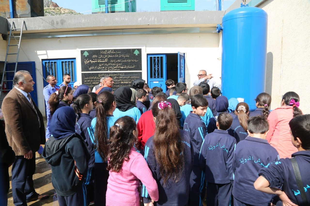 وفود طلابية وكشفية زارت محطات ضخ ومعالجة وتكرير صرف صحي في الجنوب في اليوم العالمي للمياه