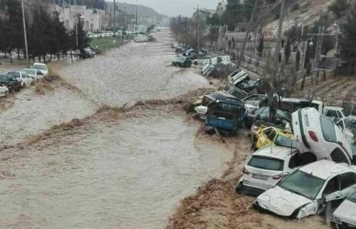 إيران تأمر بإخلاء 70 قرية في خوزستان بسبب خطر الفيضانات