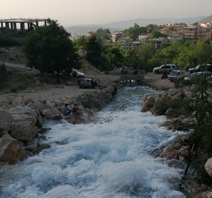 تفجر مياه نبع القسام في بقرصونا الضنية