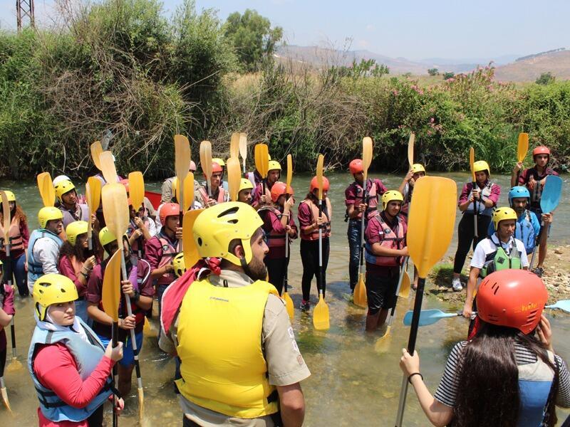كشافة البيئة نوهت بلعبة الكانوي كاياك لتشجيع السياحة البيئية