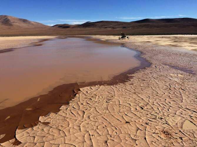 Estudiando las 'playas' del desierto de Atacama