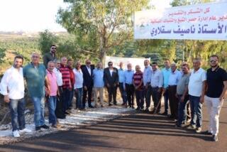 الريجي افتتحت طريقا زراعية في شمع سقلاوي: نؤكد مواصلة العمل في تقديم مشاريع تنموية