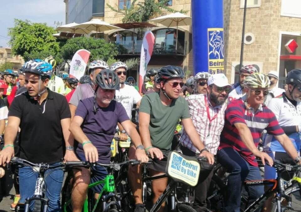فنيانوس في اطلاق المرحلة الاولى من مشروع الدراجات الهوائية: قطعت وعدا بانه سيكون هناك مسار خاص لها من طرابلس الى بيروت