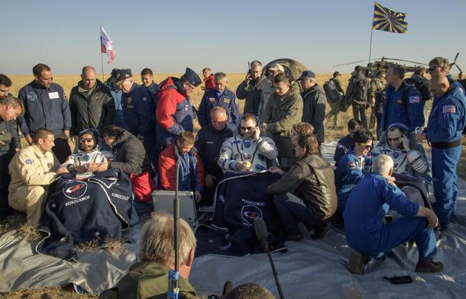 Regresan los miembros de la expedición número 60 de la estación espacial