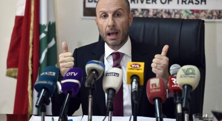 جريصاتي: فرز النفايات من المصدر هو اساس الحل ويوفر على لبنان ملايين الدولارات