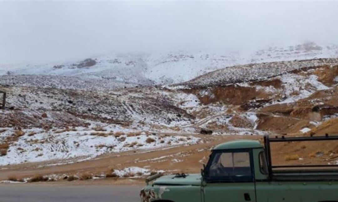 للمرة الأولى هذا العام.. الثلوج غطت جرد مربين الضنية