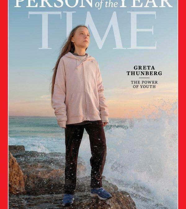 مجلة تايم تختار الناشطة البيئية جريتا تونبري للقب شخصية العام