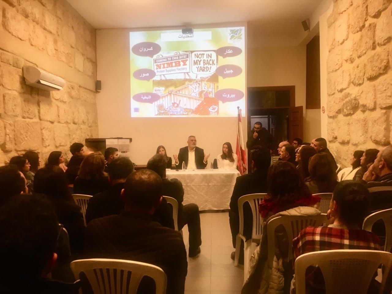 لقاء بيئي حول ادارة أزمة النفايات في زغرتا