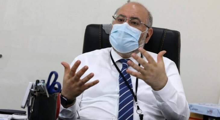"""مدير مستشفى الحريري: من الواضح ان المعركة مع """"كورونا"""" لا تسير على ما يرام"""
