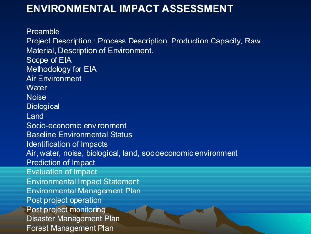المشاريع والدراسات البيئية
