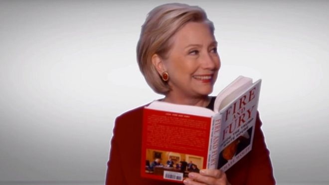 Feu et fureur sur le camé Grammy de Hillary Clinton