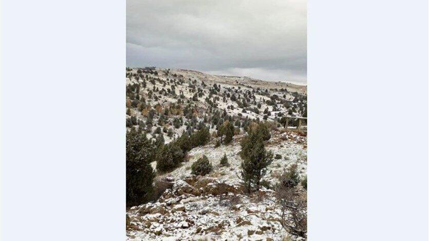 الثلوج تغطي جبل الأربعين في الضنية