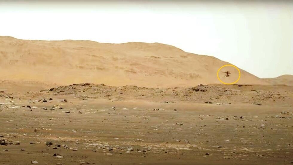 """سماع أزيز مروحية """"ناسا"""" في جو المريخ"""