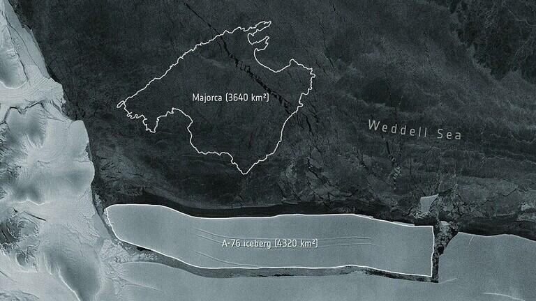 انفصال أكبر جبل جليدي عن القارة القطبية الجنوبية