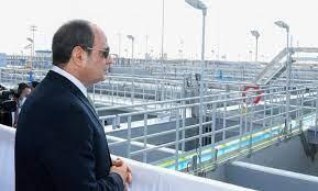 السيسي يفتتح أضخم محطة معالجة مياه في العالم
