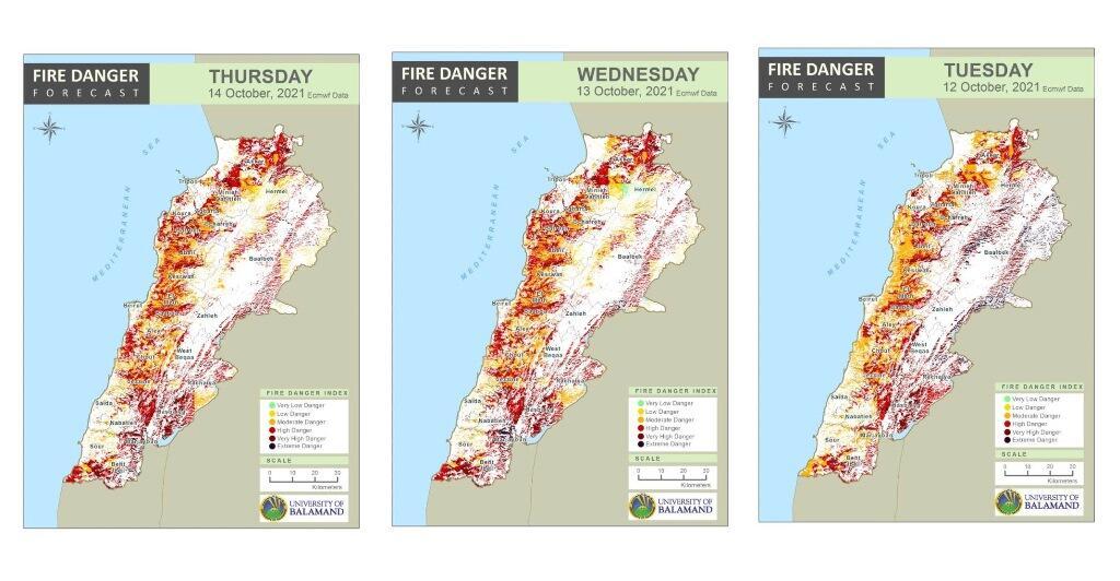 وزارة البيئة حذرت من بقاء مؤشر خطر اندلاع الحرائق مرتفعا